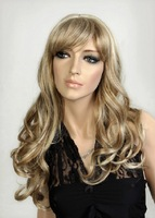 Free shipping 2014 new arrival 24' long blonde body wavy wigs for women Rihanna's Hairstyle wigs