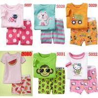 2014 New Arrival kids short clothes set   boys girls kids short  pajama set,cartoon  children pyjamas, toddler sleepwear 2T-7T
