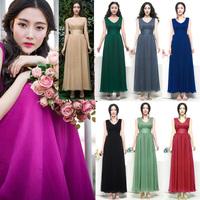 Designer Dresses European and American Women's Dresses Plus Size V-neck Frenum Tank Mulberry Silk Chiffon Sexy Dress 8505#