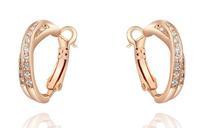 earrings Genuine Austrian crystal gilded cross ear clip A301B6