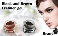 Brand MC waterproof Brown  Black Eyeliner gel make up eye liner high qualityeye make up 2pcs/lot wholesale