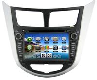 "Hot sell-7""Car DVD Player for Hyundai Solaris Verna I25 GPS Radio Bluetooth TV iPod  Russian Menu 3G Free shipping+Gift gps map"