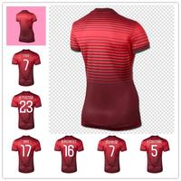 Women 2014 World Cup Jerseys Figo Cristiano Ronaldo f. Coentrao nani Meireles POSTIGA soccer jersey Lady Soccer Uniform