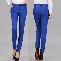 Hot Sale Send Belt Leisure Fashion Folds 2014Spring Navy blue Black Pink Harem Pants&Capris Haren Trousers Women's Clothing