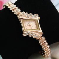 women rhinestone watch ,lady luxury fashion wristwatch ,rose gold ,diamond bracelet watches for woman relogio reloj  0142