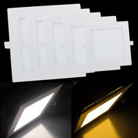 4pcs/lot 3W 4W 6W 9W 12W 15W 18W LED Ceiling Panel Light Square Warm / Cold White LED Ceiling Lamp For Foyer Kitchen