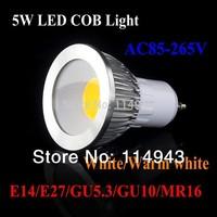 5pcs plane mirror 5W 7W 9W GU10 COB Led Spot Light Spotlight Bulb Lamp High Power Lamps AC85-265V 3 Years Warranty