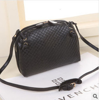 New women messenger bag Embossing weaving cross body shoulder bags fashion casual small vintage ladies black handbags 4 colors