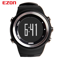 NEW! EZON Outdoor sports watch men's watch steps counter Running Watch waterproof Balck wristwatch Multi-fonction LED watch