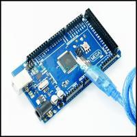 10sets/lot  Mega 2560 R3 Mega2560 REV3 ATmega2560-16AU Board + USB Cable compatible for arduino