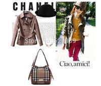 Woman bag brand plaid shopping bag retro classical luxury bolsas desigual bags women oxford scottish fabric handbag