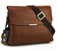 2014 Man's Messenger Bags Fashion Casual Bag Man's Briefcase Messenger Bag PU Leather Free Shipping large size