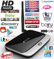 XBMC Fully Loaded Android 4.4 TV Box QUAD CORE RK3188 CS918 Q7 2GB RAM 2000+ free world iptv Sports Kids live tv Adult movies