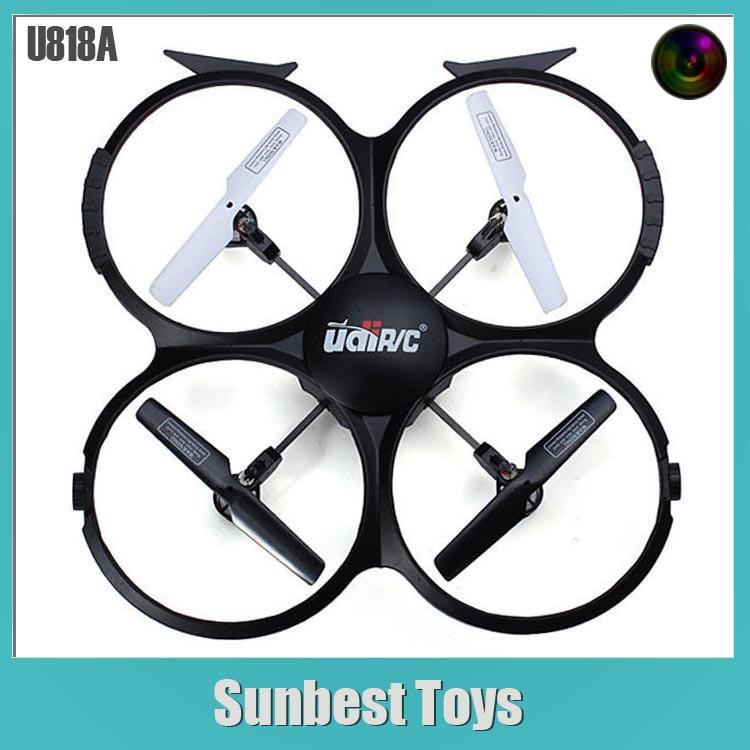 Free shipping 2.4G 4CH 6 Axis Gyro tumble U818A Quadcopter drone camera(China (Mainland))