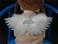 Wholesale 10 Pcs Small White Feather Angel's Wings For New Born Baby Photography Props Party Decoration 20 * 8 cm
