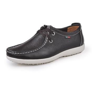 Men Shoes Натуральная кожа Повседневный Sneakers Men's Shoe Кружево Up Mens Flats ...