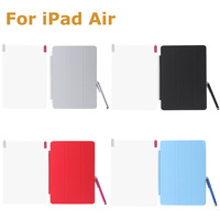 High Quality Popular Magnetic Smart Case Comprehensive Protective Cover Shell Stand for iPad Air Sleep / Wake Multiple Shapes