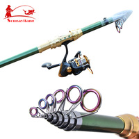 Strong Superhard Carbon Telescopic Fishing Rod  Spinning Sea Rod Lure Fishing Rod Fishing Tackle Fishing Tools