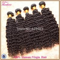 Peruvian Hair Extension Deep Wave 6pc 8''-30'' Free shipping Realove Hair Real Human Hair  Weaves Cheap Peruvian Hair Wholesale