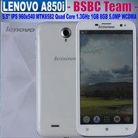 Lenovo A850i 5.5 inch MTK6582 Quad Core IPS 960x540 Pixels OS 4.2.2 1G RAM 8GB ROM Smartphone GPS 3G WCMDA