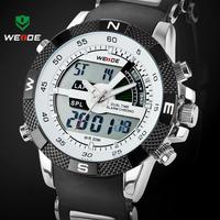 Hot Sale WEIDE Luxury Brand Men Sports Watch 3ATM Waterproof Multifunction Quartz Digital LED Backlight Military Watches