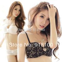 Mohini black sexy bra set fashion cup lace sweet women's comfortable underwear