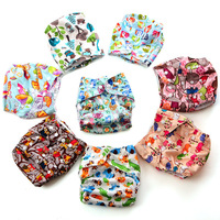 Free shipping! 1 Diaper Cover+1 Insert Baby Diaper, Adjustable Washable Breathable Cloth Diaper and 100% Microfiber Insert