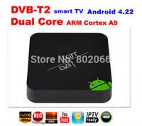 Android DVB T2 AML8726-MX Dual core Andorid 4.2.2 HDMI WIFI TV Receicer 3D 3G AV Smart TV Box DVBT2 android google tv box