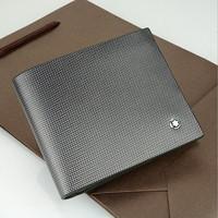 Drop shipping! 1PCS/LOT Original Design Man luxurious Brand Wallet,BLACK 100% Genuine Leather boa stripe Pattern Purse