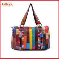 Genuine Leather Women Messenger Bag Fashion Zipper Pillow Handbag Purse Bag Organizer Tote Ladies Purse