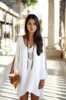 2014 daisied print solid color slim one-piece dress small fresh sleeveless skirt basic skirt Jelly