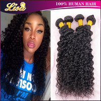 Hot sale Deep curly Queen hair products Brazilian curly virgin hair 4/3pcs Brazilian deep wave Cheap human hair Free shipping