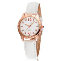 women watch fashion leather dress wristwatch women rhinestone watches lady quartz casual wristwatches for students  reloj 0190
