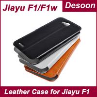 In Stock Original Jiayu F1 F1W Leather Case Book case For Jiayu F1 F1W Mobile Phone Black White Orange/ Koccis