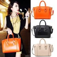2014 New Women Handbag Fashion Brief Pattern Shoulder Messenger Bag Leather Bag Free Shipping SV001545 b010
