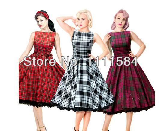 free shipping RKH11 Hearts & Roses Damask White Sleeveless Rockabilly Dress 50's Vintage Swing 6-24(China (Mainland))