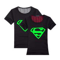 Men's t shirt 3D glow in the dark batman iron super man 2014 new neon summer hiphop luminous night light lovers cotton t-shirts
