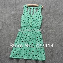New Spring 2014 Women Casual dress Leopard Print eagle silm waist Summer Dress Women all-match one-piece dresses