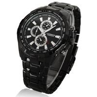 Men's CURREN Stainless Steel Luxury Sports Analog Quartz Wrist Watch  Black Coffee Free Shippng