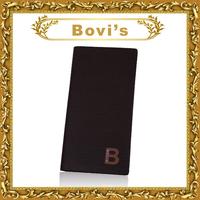 design wallet long hollow out ID window  cowhide purse fashion card holder man long purses 3616-3#