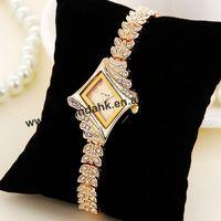 60pcs/lot JW Hot Lady Alloy Rhinestone Quartz Watch Rhombus Bracelet Bangle King Girl Wrist Watch Fashion Women Dress Watches