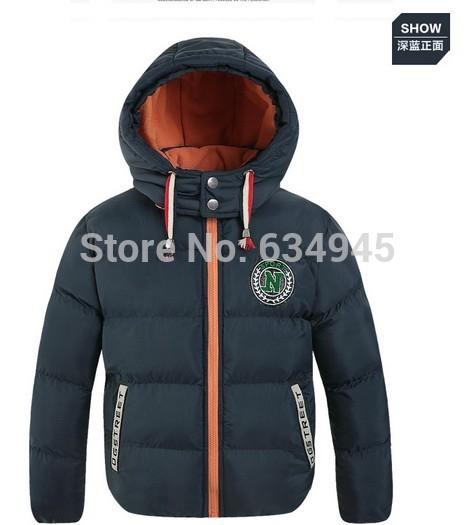 children's clothing winter coat large boy child clip plus thick velvet padded cotton jacket 2015new(China (Mainland))