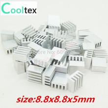 50 piezas de aluminio extruido disipador 8.8x8.8x5mm , radiador chip VGA RAM LED IC , REFRIGERADOR(China (Mainland))