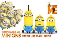 2014 new Wholesale price pen drive cartoon toy Minions usb flash drive 8GB 16GB 32GB 64GB USB 2.0 usb Memory card pendrive