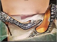 2014 Jc rhinestone rivet pointed toe high-heeled shoes round toe fashion women's shoes wedding shoes