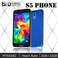 "Fingerprint Waterproof HDC S5 I9600 Phone 2GB RAM 32GB ROM MTK6582 Mobile Smart Phone 5.1"" IPS Screen 16MP Camera Android 4.4.2"