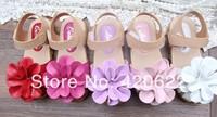 2014 children sandals ladies princess flower baby sandals Baotou sandals 5 colour 13.5-19.5cm