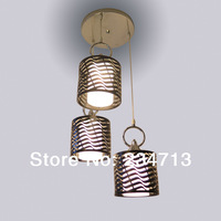 2014 NEW fashion dining chandelier ceiling three head Indoor lamps for home modern Iron & glass lampshde