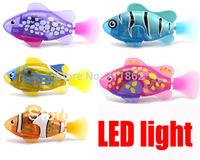 (3 pieces/lot) LED Novel Robofish Electric Toy Robo Fish,Emulational Robot Fish,Electronic pets