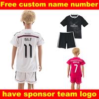 Real madrid kids  2014 soccer jerseys chandal real madrid jersey roupas de crianca cheap soccer ropa de kids 14 15